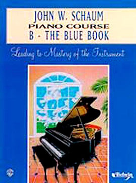 Schaum Piano Course B Blue Book EL00167A