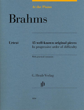 At The Piano Brahms Henle Urtext 15 well-known original pieces  HN1814