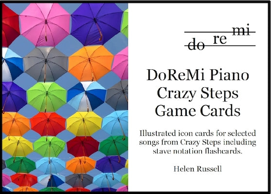 Crazy Steps Game Cards DoReMi Pian0 Helen Russell DRM05