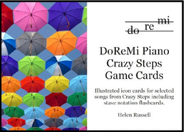 Crazy Steps Game Cards DoReMi Piano Helen Russell DRM05