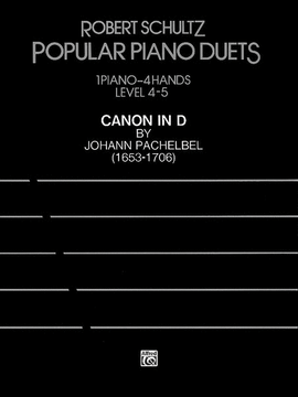 Canon in D Johann Pachelbel Piano Sheet Music Popular Piano Duets Level 4-5