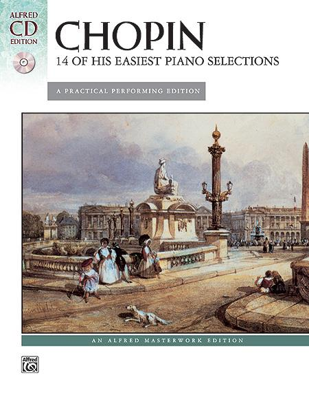 Chopin 14 of His Easiest Piano Selections Book + CD 28050