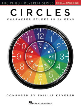 Circles Character Etudes in 24 Keys Phillip Keveren Piano Solo HL00301857