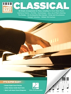 Classical - Super Easy Songbook, 60 Simple Arrangements For Piano, 9781495073922