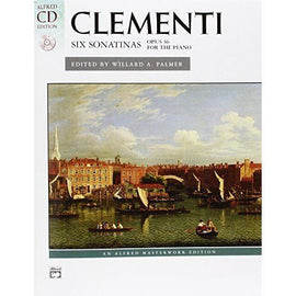Clementi: Six Sonatinas, Opus36 For the Piano , Book + CD, Sheet Music Book