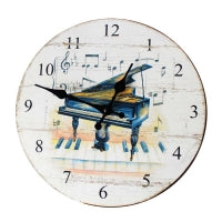 Piano Distressed Wall Clock