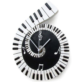 Piano Scroll Wall Clock