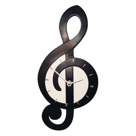 "Treble Clef shaped Wall Clock 14""(355mm) x 7""(178mm) x 1 3/4' (45mm)"