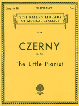 Carl Czerny The Little Pianist Op.823 Vol.54  Schirmer's Library, Piano Studies 9780793525973