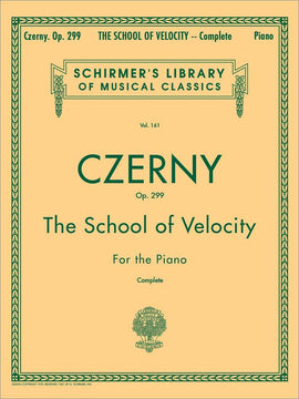 Carl Czerny School of Velocity, Op.299 Schirmer's Library, Piano Studies