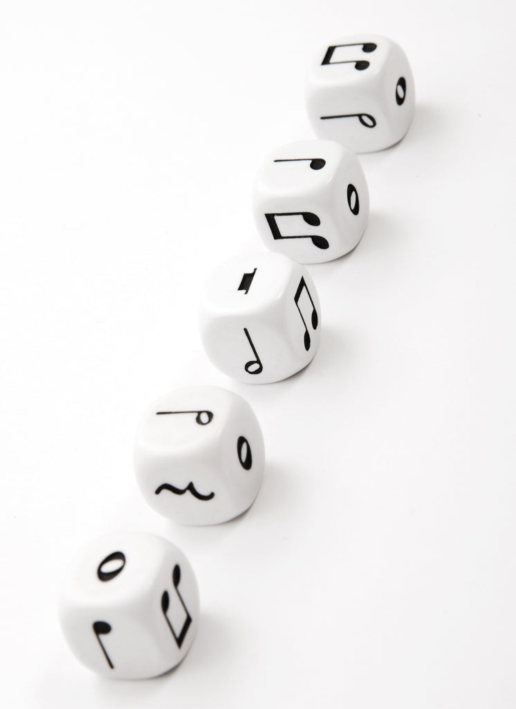 Music Dice Set of 5 Six Sided Music Symbols Various Games