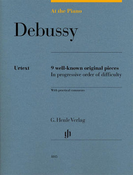 At The Piano  Debussy Henle  Urtext 9 well-known original pieces  HN1815