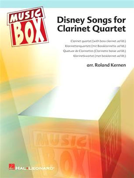 Disney Songs for Clarinet Quartet 4 well known Disney songs 9789043128728
