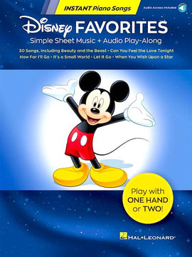 Disney Favorites - Instant Piano Songs 30 Favourites Audio Play-Along Hal Leonard