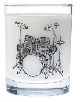 Clear Glass Tumbler Drum Set Music Gift G02213