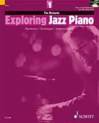 Exploring Jazz Piano Volume 1, Tim Richards, Book + CD, Schott Publishing, 9781902455242