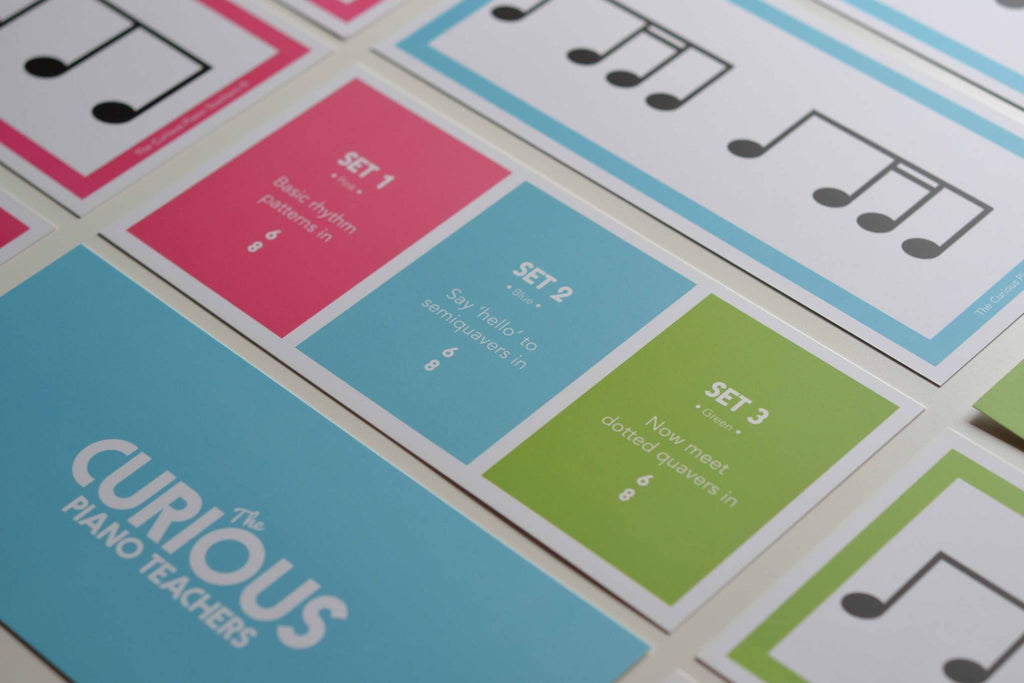 The Curious Piano Teachers Flash Cards: Premium Flashcards for Professionals: 6/8 Rhythm Cards