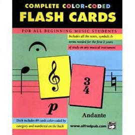 89 Coloured Flash Cards Music Theory Flashcards by Alfred 12061