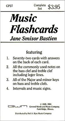 Music Flashcards 72 Flash Cards Theory Jane Smisor Bastien GP27