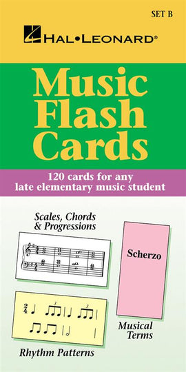 Flash Cards Set B Theory Flashcards 120 Card Set Late Elementary  Hal Leonard