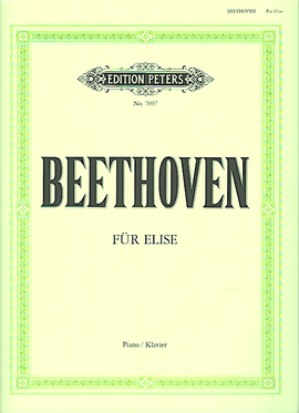 Fur Elise, Ludwig Van Beethoven, Ed.Peters 7097 Piano Sheet Music 9790577082509 Für Elise