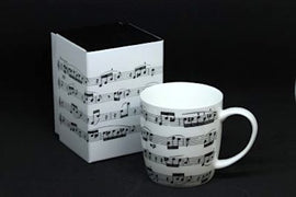 Music Mug White Bone China Fur Elise 5025966646203