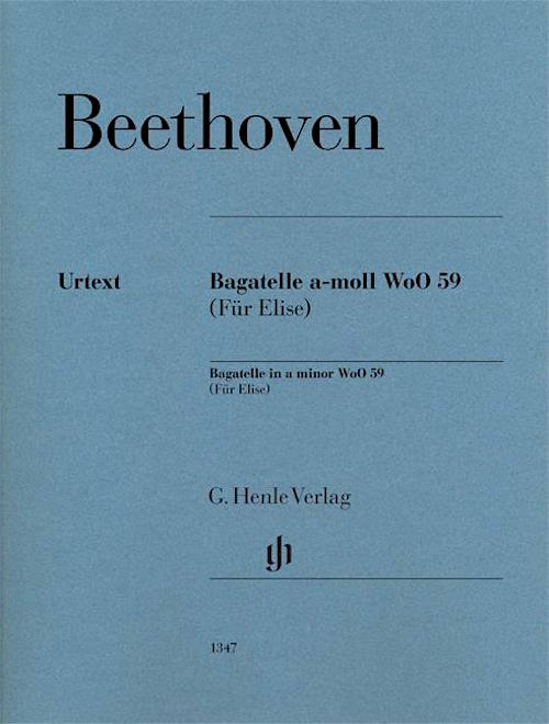 Fur Elise Beethoven Henle Urtext Bagatelle In A Minor WoO 59 HN1347