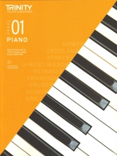 Trinity Piano 2018-2020 Grade 1  Book + CD, Pieces & Exercises TCL016683
