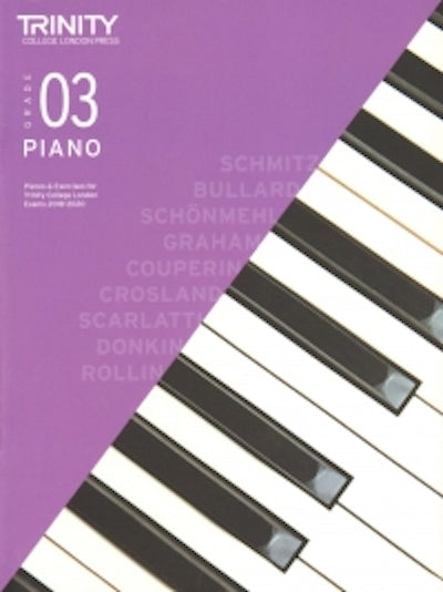 Trinity Piano 2018-2020 Grade 3  Book Only Pieces & Exercises TCL016614