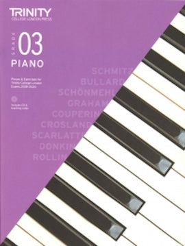 Trinity Piano 2018-2020 Grade 3  Book + CD Pieces & Exercises TCL016706