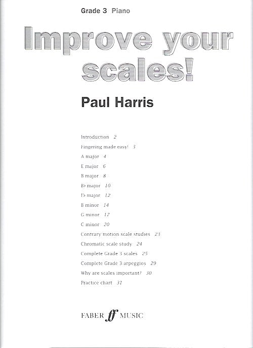 Improve Your Scales! Piano Grade 3 Paul Harris 9780571534135