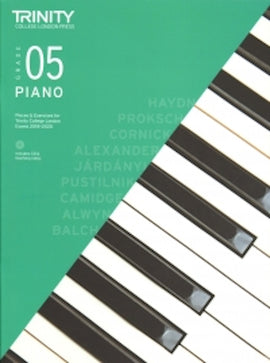 Trinity Piano 2018-2020 Grade 5  Book + CD, Pieces & Exercises TCL016720
