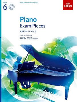 ABRSM Grade 6 Piano 2019-2020 Selected Exam Pieces Book + CD