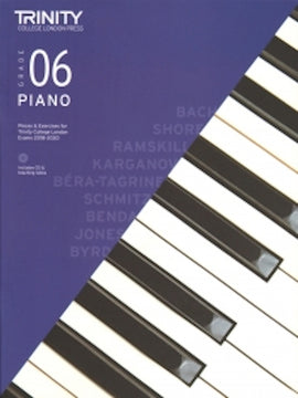 Trinity Piano 2018-2020 Grade 6  Book + CD, Pieces & Exercises TCL016737