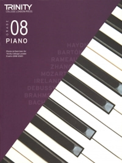 Trinity Piano 2018-2020 Grade 8  Book Only Pieces & Exercises TCL016669
