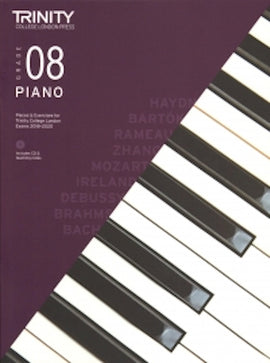 Trinity Piano 2018-2020 Grade 8  Book + CD, Pieces & Exercises TCL016751