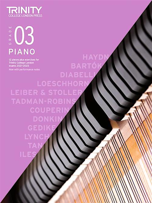 Trinity Piano Exam Pieces & Exercises 2021-2023 Grade 3 Book Only TCL020260