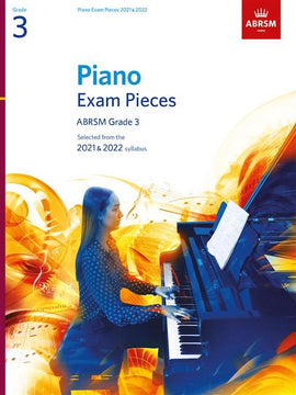 ABRSM Grade 3 Piano 2021-2022 Book Only Selected Exam Pieces