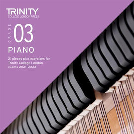 Trinity Piano Exam Pieces & Exercises 2021-2023 Grade 3 CD Only TCL021069