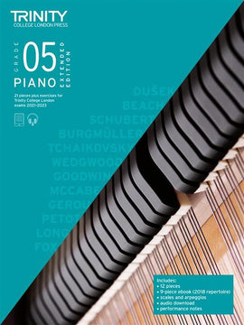 Trinity Piano Exam Pieces & Exercises 2021-2023 Grade 5 Extended TCL020567