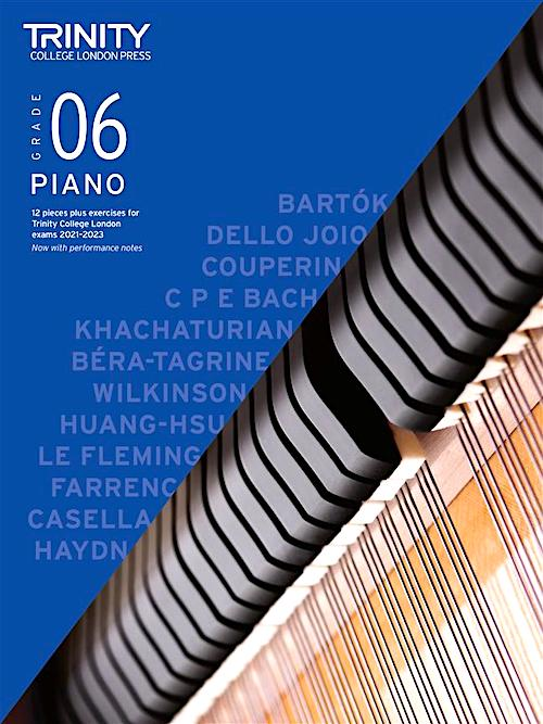 Trinity Piano Exam Pieces & Exercises 2021-2023 Grade 6 Book Only TCL020291