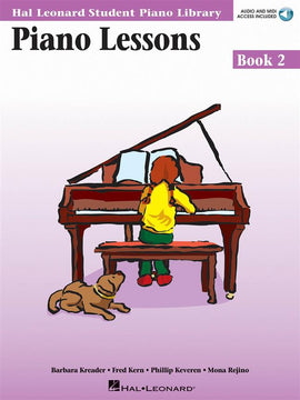Piano Lessons Book Two Hal Leonard Student Piano Library Book + Audio Access 9780634055553