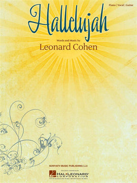 Hallelujah Leonard Cohen Piano Vocal Guitar (PVG) Sheet Music HL00353824