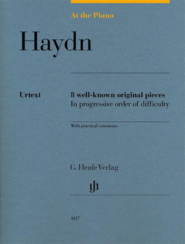 At The Piano Haydn Henle Urtext 8 well-known original pieces  HN1817