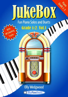 JukeBox Piano Solos and Duets Volume 1 Olly Wedgwood MP3 Backing Tracks Grade 1-2  JB121