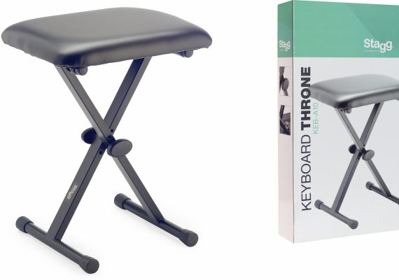 Stagg X-Style Keyboard Throne Piano Keyboard Stool Bench KEB-A10
