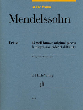 At The Piano Mendelssohn Henle Urtext 13 well-known original pieces  HN1813