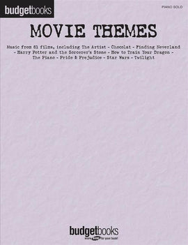 Movie Themes Piano Solo Great Music from 81 Films Budget Books HL00289137