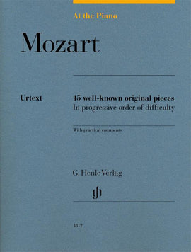 At The Piano Mozart Henle Urtext 15 well-known original pieces  HN1812