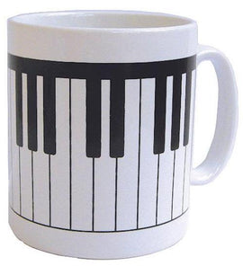 Mug Keyboard Earthenware Mug Hand-decorated in England.